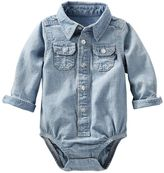 Osh Kosh Baby Boy Chambray Button-Down Bodysuit