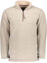True Grit Washed Gray Sueded Sherpa Half-Zip Pullover