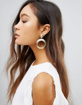 House Of Harlow Hoop Drop Stud Earrings