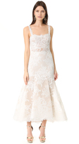 Monique Lhuillier Shannon High Low Midi Dress