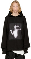 D.gnak By Kang.d Black Layered Patch Hoodie