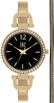 INC International Concepts Women's Gold-Tone Stainless Steel Mesh Bracelet Watch & Bracelet Box Set 32mm IN014G, Only at Macy's