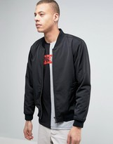 Dr Denim Mason Black Bomber Jacket