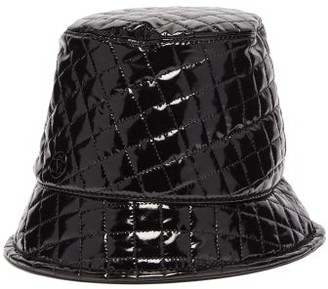 Maison Michel Souna Quilted-pvc Bucket Hat - Womens - Black
