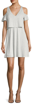 BCBGeneration Easy Cold Shoulder Flared Dress