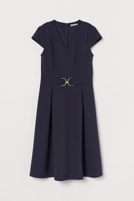 H&M Cap-sleeved Dress - Blue