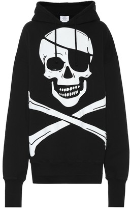Vetements Printed cotton hoodie
