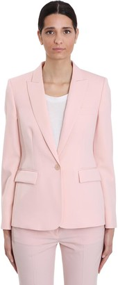 Stella McCartney Blazer In Rose-pink Wool
