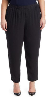 Eileen Fisher, Plus Size System Slouchy Silk Ankle Pants