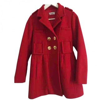 Sonia Rykiel Sonia By Red Wool Coats