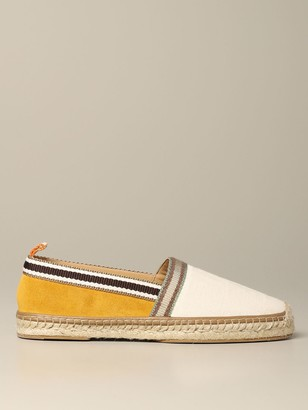 Fendi Espadrilles In Canvas And Suede With Ff Logo