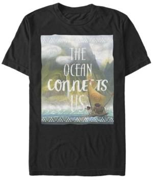 Disney Men's Moana the Ocean Connects Us, Short Sleeve T-Shirt