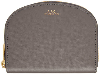A.P.C. Grey Demi-Lune Coin Wallet