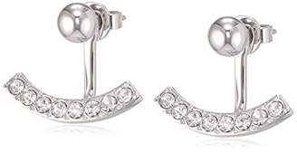 Tommy Hilfiger Women Stainless Steel Front & Back Earrings - 2780028, Silver,One Size