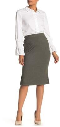 Catherine Malandrino French Terry Knit Midi Skirt