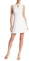 GUESS Embellished Beaded Crew Neck Dress