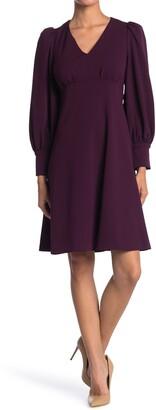 Calvin Klein Puff Sleeve Empire Waist Dress