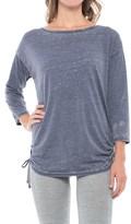 Gaiam Bryn Slouchy T-Shirt - Boat Neck, Short Sleeve (For Women)