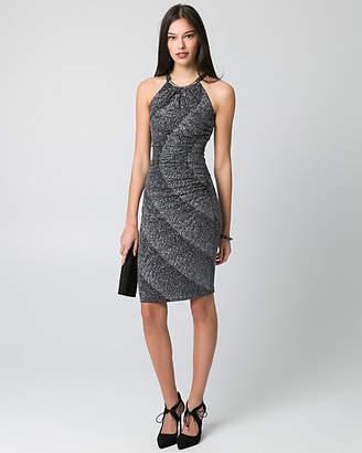 Le Château Sparkle Knit Halter Cocktail Dress