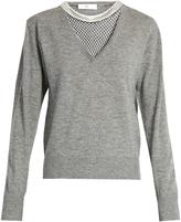Toga Mesh-insert wool sweater