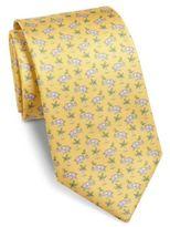 Salvatore Ferragamo Elephant Printed Silk Tie