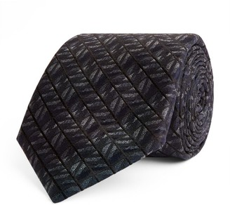 Canali Silk Diamond Herringbone Tie