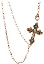 Gypsy SOULE Silver and Copper Double Chain w/ Cross Necklace