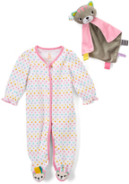 Taggies Pink Cat Lovey & Footie - Infant