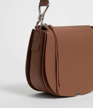 AllSaints Captain Leather Round Crossbody Bag