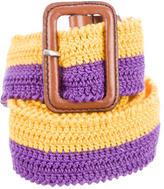 Prada Woven Crochet Belt