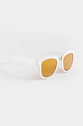 francesca's Tiana Cat Eye Sunglasses - White