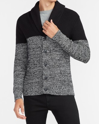 Express Marled Color Block Cardigan