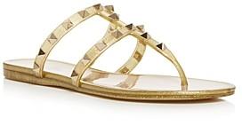 Valentino Women's Rockstud Studded Thong Sandals
