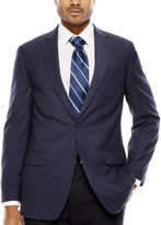 Claiborne Navy Solid Jacket - Classic Fit