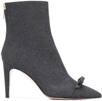 RED Valentino RED(V) glitter 90 ankle boots