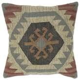 Aura Jute Square Throw Pillow in Brown