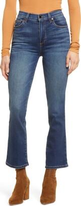 Le Jean Bella High Waist Crop Flare Jeans