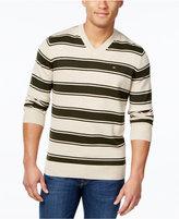 Tommy Hilfiger Men's Striped V-Neck Sweater