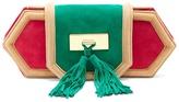 Balmain Killari tassel-embellished suede clutch