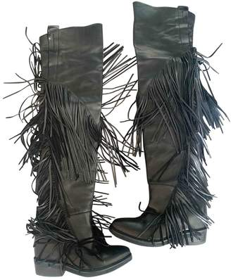 Cinzia Araia \N Black Leather Boots