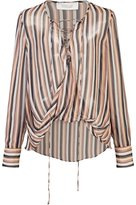Derek Lam 10 Crosby striped sheer blouse - women - Silk - 8