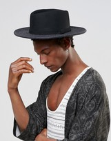 Asos Wide Brim Pork Pie With Cut And Sew