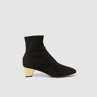 Nicholas Kirkwood Black Prism Suede Ankle Boots Size IT 40