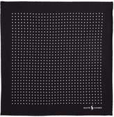 Ralph Lauren Polka Dot Pocket Square, Black, One Size
