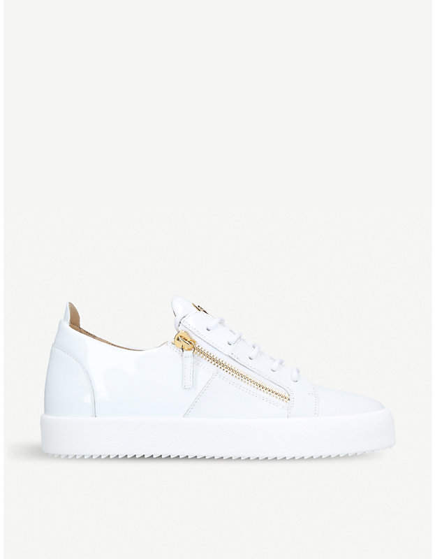 Giuseppe Zanotti Signature mixed leather trainers