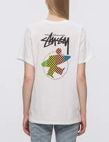 Stussy Surfman Check Boyfriend T-Shirt