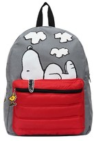 "Peanuts 16"" Snoopy and Woodstock Kids' Backpack - Gray/Red"