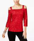 inc international concepts sequined coldshoulder top only at macys
