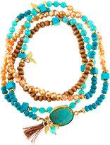 Nakamol Long Beaded Wrap Bracelet, Blue