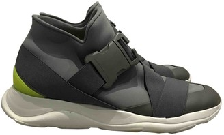 Christopher Kane Grey Cloth Trainers